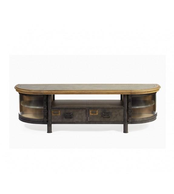 Mueble de TV madera y acero - INKA DECORACIÓN
